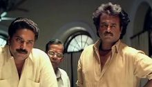 A scene from Mani ratnam's Thalapathi, with Mammoty and Rajnikanth