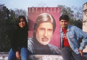 With a friend and fellow Bachchan fan during B.School days :)