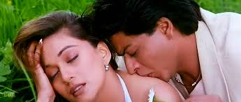 Hot Madhuri kissing SRK