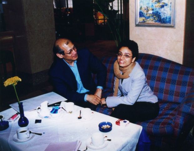 Charles Sobhraj with Oorvazi Irani in London 2002