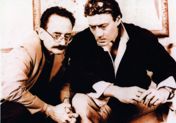 Sorab Irani, director & producer in talks with the star Jackie Shroff in Mumbai - 2002