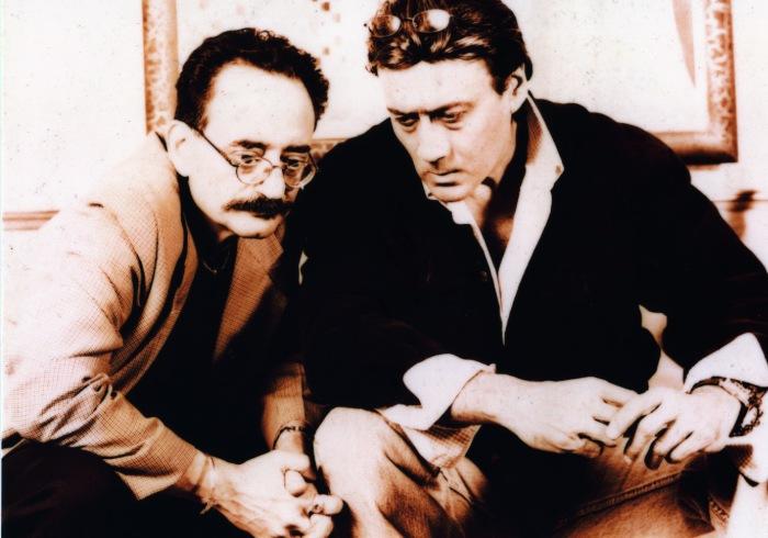 Sorab Irani, director & producer in talks with the star Jackie Shroff in Mumbai - 2002