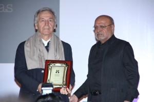 Costa Gavras and Shyam Benegal_at the Opening Ceremony_15th Mumbai Film Festival(MAMI)