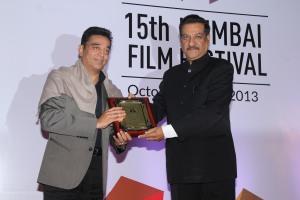 Kamal Haasan receiving the Lifetime Achievement Award_at the Opening Ceremony_15th Mumbai Film Festival(MAMI)