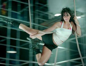 Katrina Kaif in Pink Bra in Dhoom 3