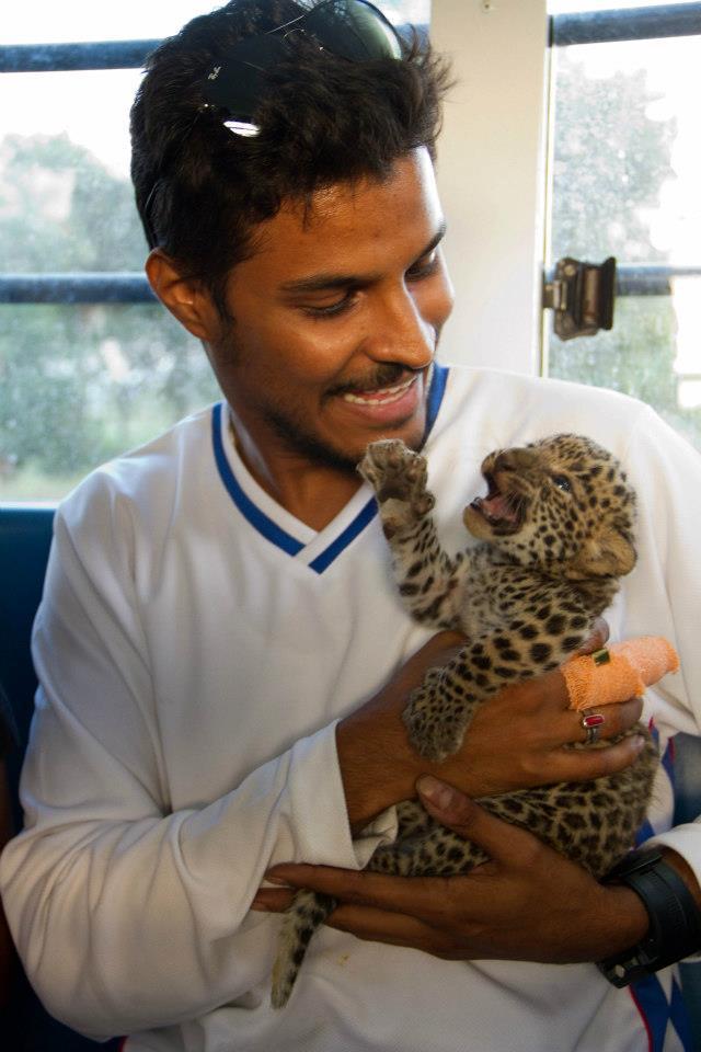 Sujay with Cub