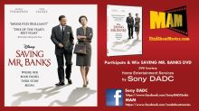 Win Free DVD's of Oscar Nominated Saving Mr, Banks