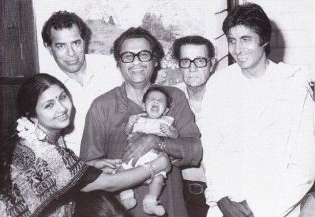 Kishore Kumar with Amitabh