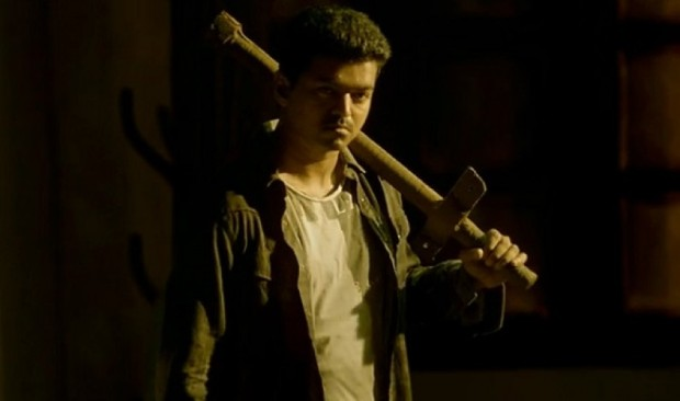 Vijay with his favorite weapon in the film :)