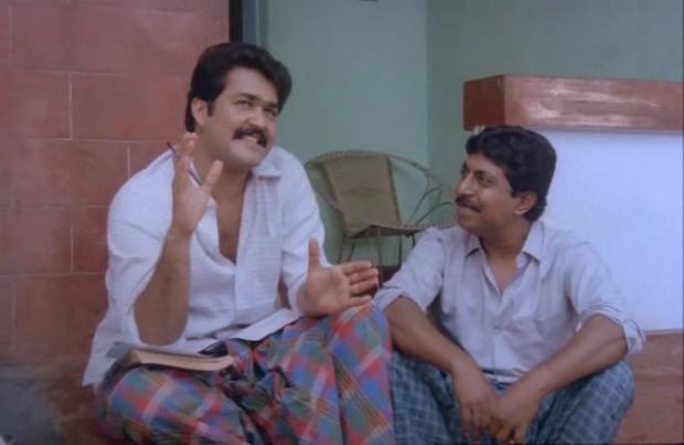 Dasan (Mohanlal) and Vijayan at the start-Nadodikattu