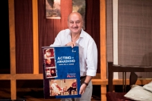 Anupam Kher launching the DVD of Acting to Awakening