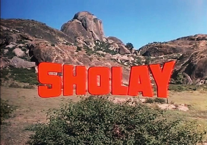 Sholay Title Card