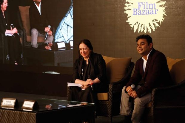 Film Bazaar 2015-Nasreen Munni Kabir with ARR