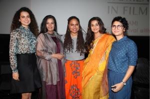 Kangana Ranuat, Shabana Azmi, Ava DuVernay, Vidya Balan and Kiran Rao
