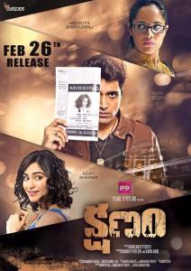 Kshanam Poster 3