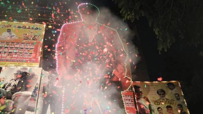 Kabali Celebrations outside Aurora Cinema, Matunga (Mumbai)