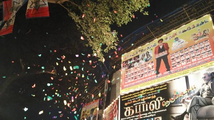 Kabali Celebrations outside Aurora Cinema,Matunga (Mumbai)