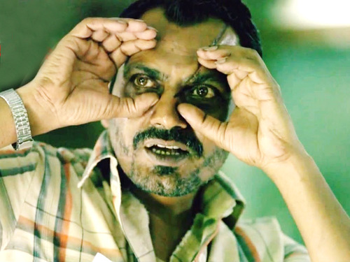 Screenshot from the film – Raman the serial killer played by Nawazuddin Siddiqui